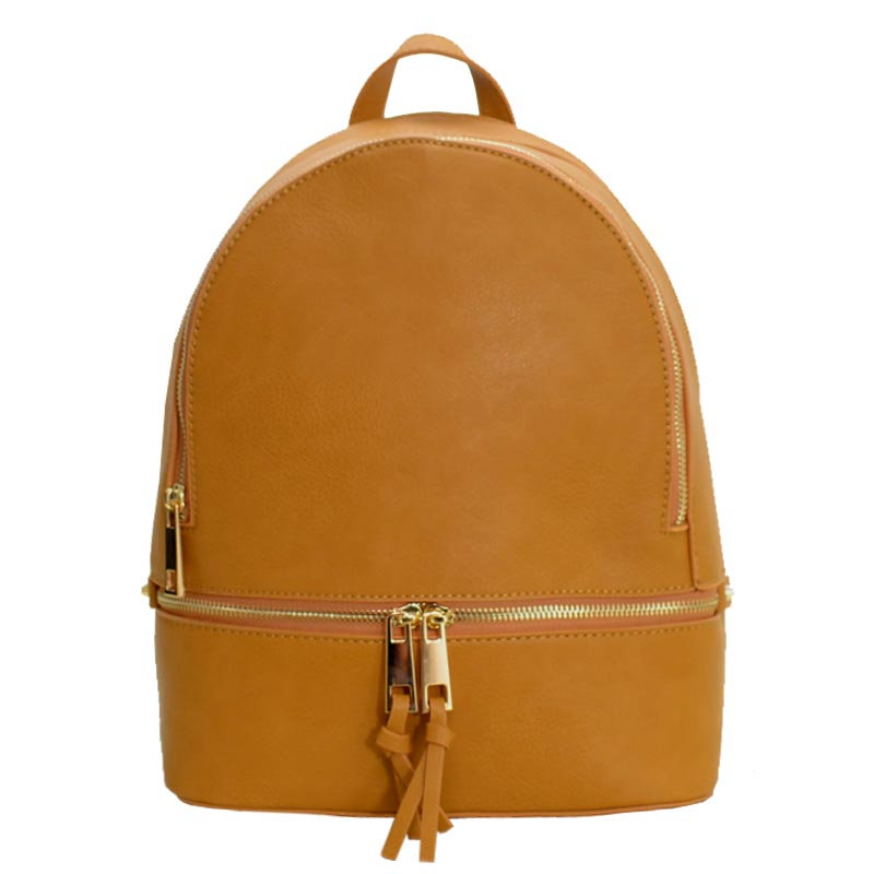 Wallet Set Fashion Backpack Mustard