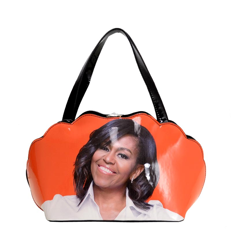 Obama Print Shell Frame Satchel 2