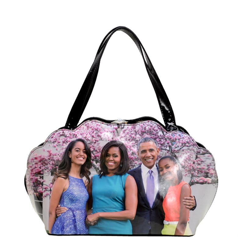 Obama Print Shell Frame Satchel 3