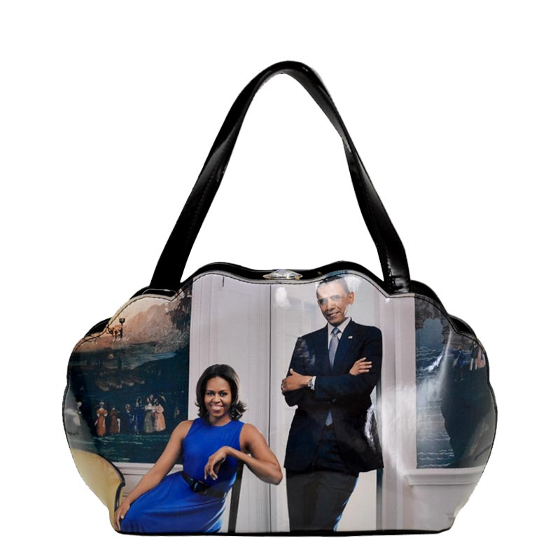 Obama Print Shell Frame Satchel 4