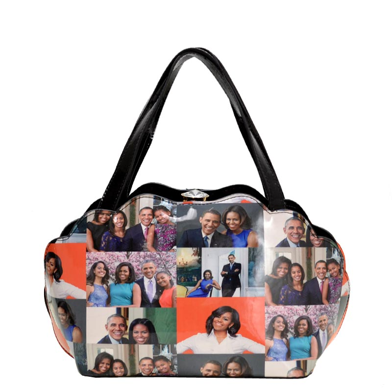 Obama Print Shell Frame Satchel 5