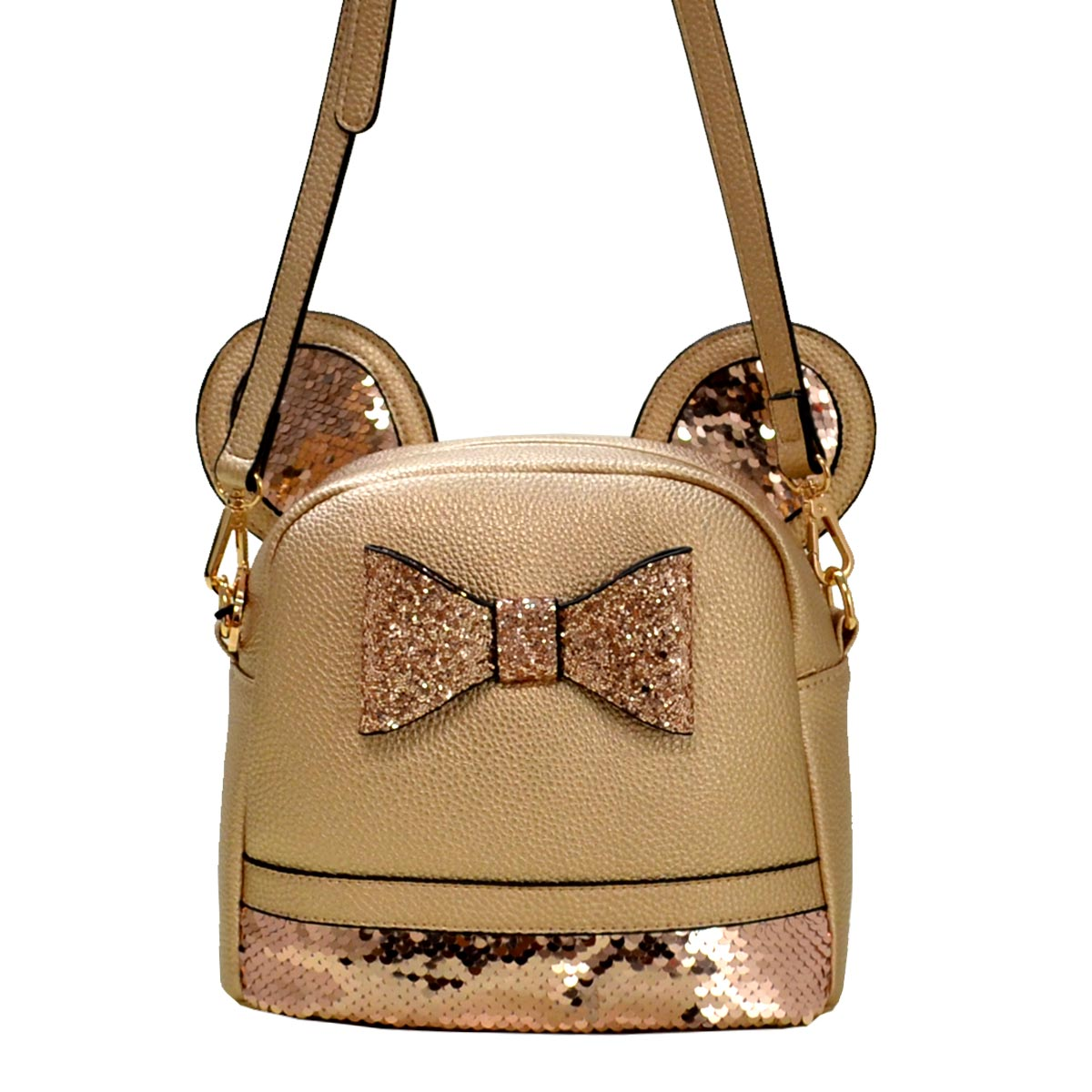Mouse Style Messenger Cross Bag E Gold