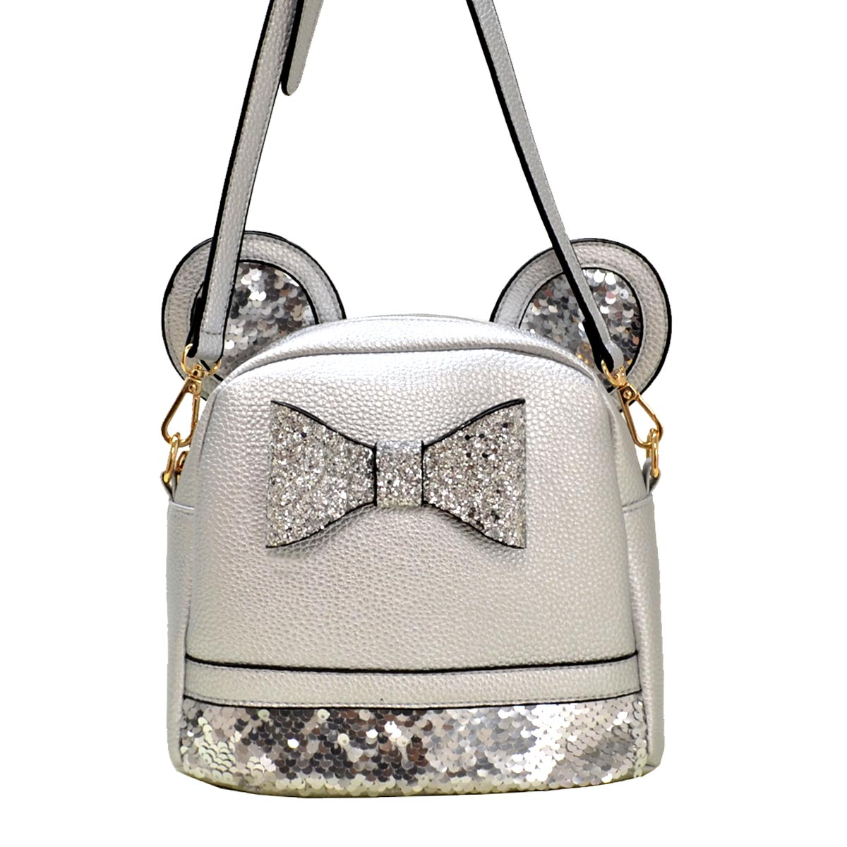Mouse Style Messenger Cross Bag E Silver