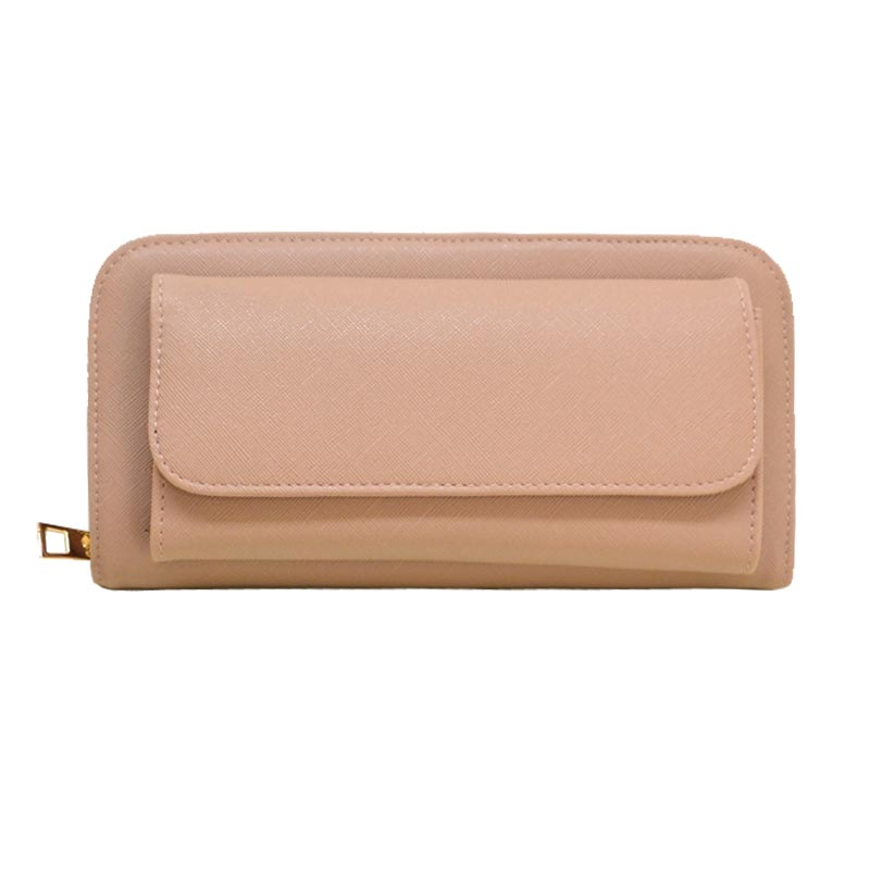 Elegant Modern Mono Tone Colored Fashion Wallet Taupe